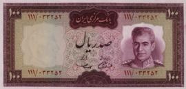 Iran B216 P86 100 Rials 1969 (No Date)