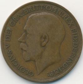 Engeland 1 PENNY 1921 KM# 810