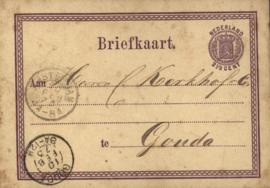 Nederland, Gouda,  Briefkaart 1873