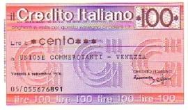 il Credito Italiano - 100 Lire