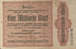 Stollberg 4892.k 1.000.000.000 Mark 1923