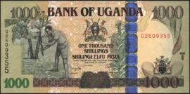 Oeganda P43.d 1.000 Shillings 2009