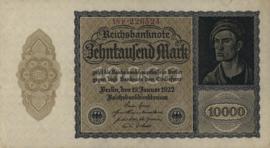 Duitsland Ros.069j: P 10.000 Mark 1922 DEU78c: P