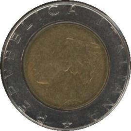 Italië KM111 500 Lire 1990R
