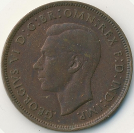 Engeland 1 PENNY 1945 KM# 845