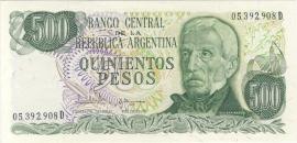Argentinië P303.c1 500 Pesos 1977-82 (No date)