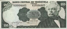 Venezuela P53.c 20 Bolivares 1974-79
