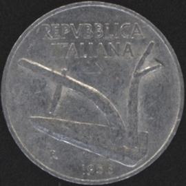 Italië KM#93 10 Lire 1956R