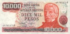 Argentinië P306.d 10.000 Pesos 1976-83 (No date)