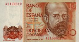 Spanje P156 200 Pesetas 1980