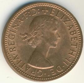 Engeland ½ PENNY 1967 KM# 896