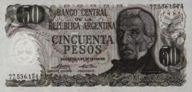 Argentinië P296 50 Pesos 1974-75 (No date)
