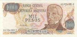 Argentinië P304.d2 1.000 Pesos 1976-1982 (No date)