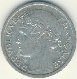 Frankrijk 1 Franc KM885 (en varianten) 1931-1959
