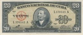 Cuba P80.c 20 Pesos 1960 XF