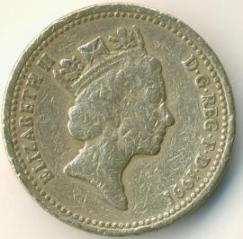 Engeland 1 Pond 1991 KM# 946