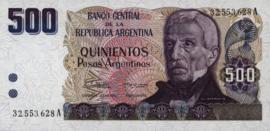 Argentinië P316 500 Pesos Argentinos 1984 (No date)
