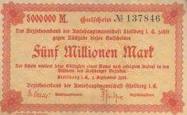 Stollberg 4892.e 5.000.000 Mark 1923