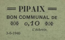 België - Pipaix  10 Centimen 1940