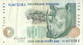 Zuid Afrika P123 10 Rand ND (1993-99)