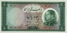 Iran B156 P66 50 Rials 1954/SH1333
