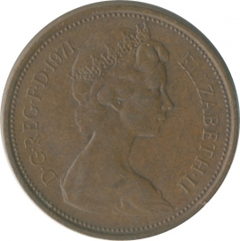 Engeland 2 (New) Pence 1971-2001 KM# 916/928/936(a)/987a