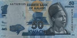 Malawi P58.a 50 Kwacha 2012
