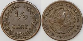 Nederland Sch.1003 1/2 Cent 1901