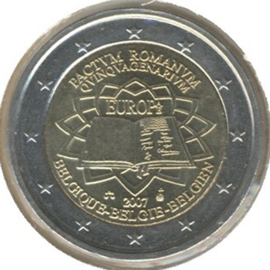 Belgium KM247 2 Euro commemorative 2007 Treaty of Rome