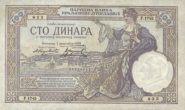 Joegoslavië P27.b 100 Dinara 1929