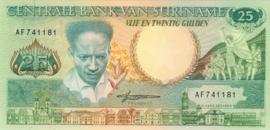 Suriname P132 25 Gulden 1988 B518b