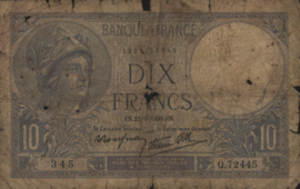 Frankrijk P84 10 Francs 1939-42