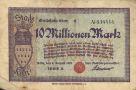 Köln 2684.i 10.000.000 Mark 1923