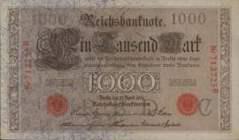 Duitsland P44.a. C 6 cijfers 1.000 Mark 1910