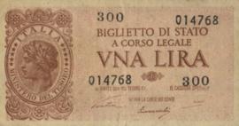 Italy P029.a 1 Lira 1939-11-14