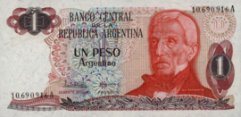 Argentinië  P311 1 Peso Argentino 1983-84 (ND)