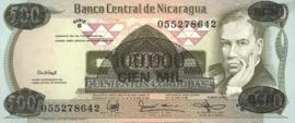 Nicaragua P149 100.000 Córdobas on 500 Córdobas 1987