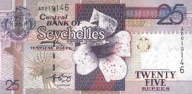 Seychellen P37.b 25 Rupees 2008