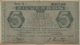 PL21: 5 Gulden 16-10-1944 XF-