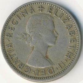 Engeland 2 Shillings (Florin) 1957 KM# 906