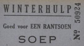 Winterhulp  Nederland (WHN) Een rantsoen soep 1940/1944