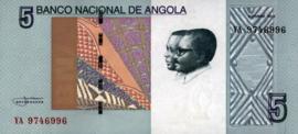 Angola P151A 5 Kwanzas 2012