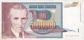 Joegoslavië P121 5.000.000 Dinara 1993