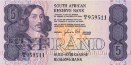 Zuid Afrika P119.c 5 Rand 1978-94 (No Date)