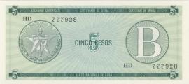 Cuba PFX07 5 Pesos 1985 UNC-