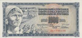 Joegoslavië P92.c 1.000 Dinara 1978-1981