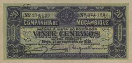 Moçambique P.R29 20 Centavos 1933