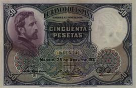 Spanje  P82 50 Pesetas 1931