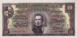 Uruguay P42.b 10 Pesos 1939