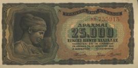 Griekenland P123 25.000 ΔΡΑΧΜΑΙ / Drachmes / Drachmai 1943